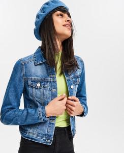 Niebieska kurtka Reserved krótka w street stylu z jeansu