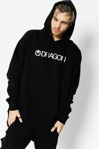 Czarna bluza Dragon w młodzieżowym stylu