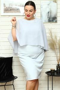 Sukienka KARKO ołówkowa mini z długim rękawem