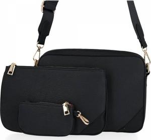 Czarna torebka Herisson lakierowana w stylu glamour