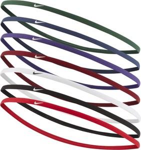 Opaski na włosy Nike Skinny (8 sztuk) - Czerwony