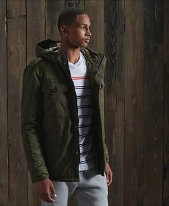 Zielona kurtka Superdry w stylu casual krótka
