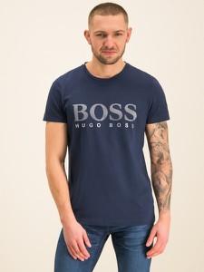 Granatowy t-shirt Boss