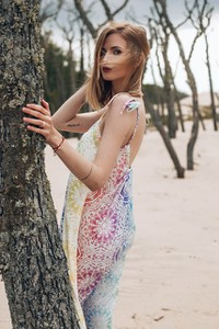 Sukienka Naoko prosta