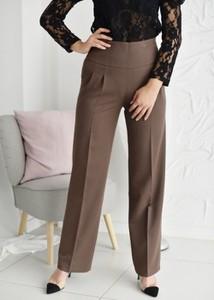 Brązowe spodnie Fason w stylu klasycznym