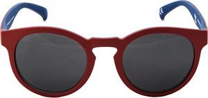 Czerwone okulary damskie Adidas
