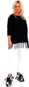 Bluzka Roxana - sukienki w stylu boho z długim rękawem z okrągłym dekoltem