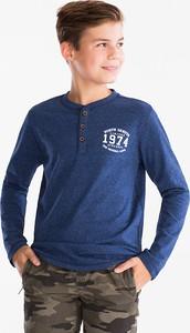 Granatowa koszulka dziecięca Here And There z bawełny