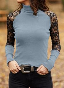 Bluzka Cikelly z długim rękawem w stylu casual
