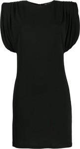 Czarna sukienka Versace mini z okrągłym dekoltem