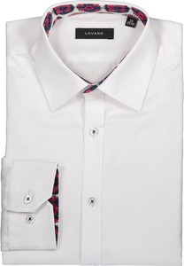 Koszula Lavard z klasycznym kołnierzykiem z długim rękawem