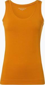 Żółty top Marie Lund z okrągłym dekoltem