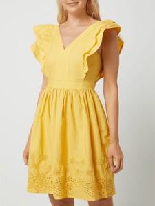 Sukienka Vero Moda z krótkim rękawem z bawełny z dekoltem w kształcie litery v