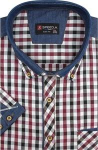 Koszula Speed.A z tkaniny z krótkim rękawem