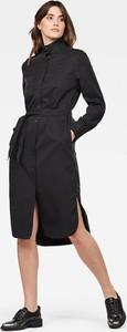 Sukienka G-Star Raw midi z długim rękawem