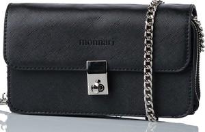 Czarna torebka Monnari matowa na ramię