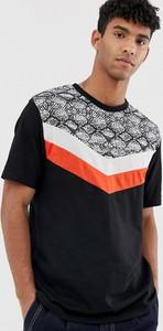 Czarny t-shirt Asos Design z bawełny