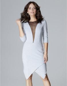Sukienka LENITIF z długim rękawem z bawełny midi