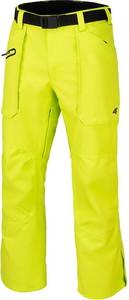 Żółte spodnie sportowe 4F