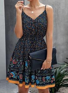 Czarna sukienka Arilook z dekoltem w kształcie litery v mini na ramiączkach