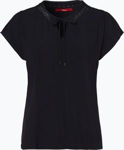 Granatowa bluzka S.Oliver z krótkim rękawem w stylu casual