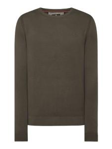 Zielony sweter Lerros z okrągłym dekoltem w stylu casual