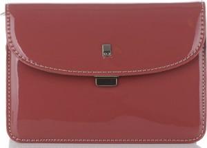 Czerwona torebka David Jones mała ze skóry ekologicznej