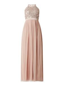 Różowa sukienka Jake*s z szyfonu maxi z okrągłym dekoltem