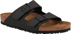 Czarne buty letnie męskie Birkenstock ze skóry