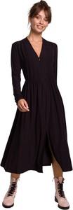 Sukienka Be z dekoltem w kształcie litery v z długim rękawem z dzianiny