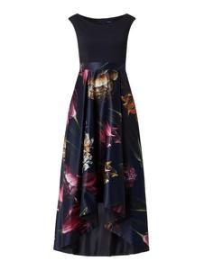 Granatowa sukienka Swing maxi bez rękawów