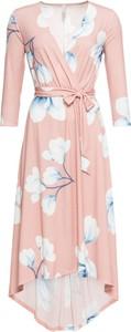 Sukienka bonprix BODYFLIRT boutique maxi z długim rękawem z dekoltem w kształcie litery v