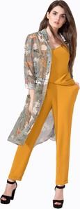 Żółte spodnie Art Mio z tkaniny