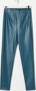 Zielone spodnie Sinsay ze skóry