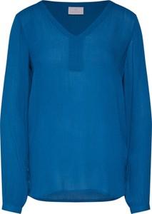 Niebieska bluzka Kaffe z długim rękawem