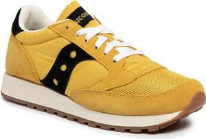 Żółte buty sportowe Saucony sznurowane
