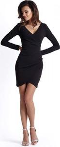 Sukienka Ivon z długim rękawem mini asymetryczna
