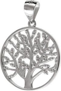 Valerio Elegancki rodowany srebrny wisiorek drzewo życia tree of life srebro 925 W0309