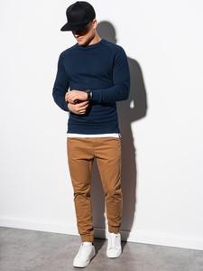 Granatowa bluza Ombre w stylu casual