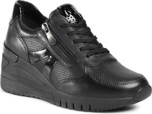 Czarne buty sportowe eobuwie.pl na platformie