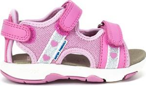 Różowe buty dziecięce letnie Geox na rzepy