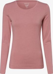 Różowy t-shirt Marie Lund w stylu casual z okrągłym dekoltem