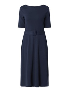 Granatowa sukienka Esprit z krótkim rękawem z dżerseju