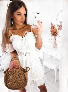 Sukienka Pakuten z krótkim rękawem z bawełny