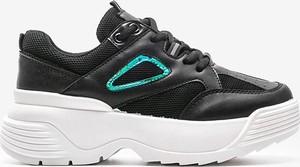 Buty sportowe Gemre.com.pl sznurowane na platformie ze skóry