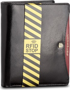 Czarny portfel męski peterson ze skóry
