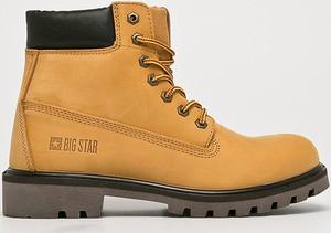 Żółte buty zimowe Big Star sznurowane