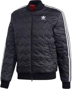 Niebieska kurtka Adidas z dresówki