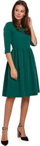 Sukienka Makeover midi z długim rękawem
