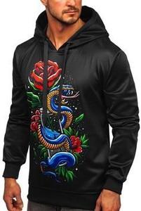 Czarna bluza Denley w młodzieżowym stylu